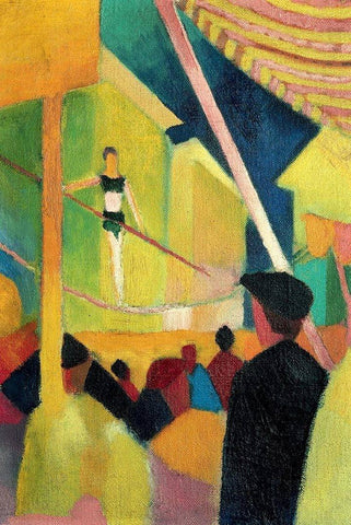 Tightrope Walker by August Macke - Peaceful Wooden Puzzles