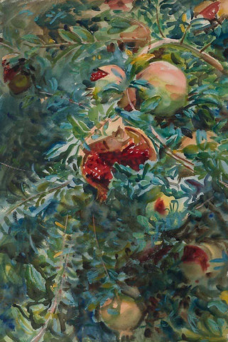 Pomegranates by John Singer Sargent - Peaceful Wooden Jigsaw Puzzles
