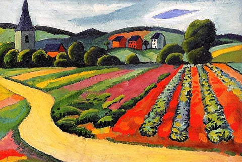 Landscape at the Tegersee by August Macke - Wooden Jigsaw Puzzles for Adults