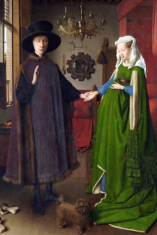 Arnolfini Portrait by Jan van Eyck - Wooden Jigsaw Puzzles for Adults
