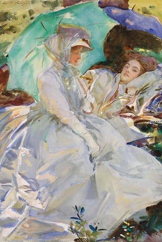 Simplon Pass: Reading by John Signer Sargent - Peaceful Wooden Puzzles