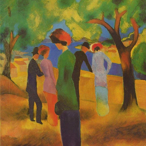 Lady in a Green Jacket by August Macke - Wooden Jigsaw Puzzles for Adults