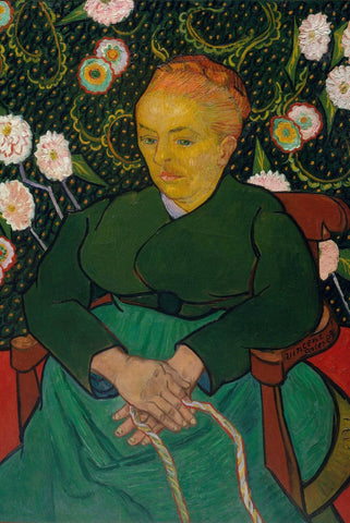 Woman Rocking a Cradle Van Gogh - Peaceful Wooden Puzzles