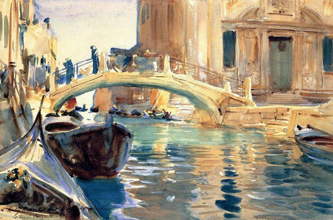 Venice by John Singer Sargent - Peaceful Wooden Jigsaw Puzzles