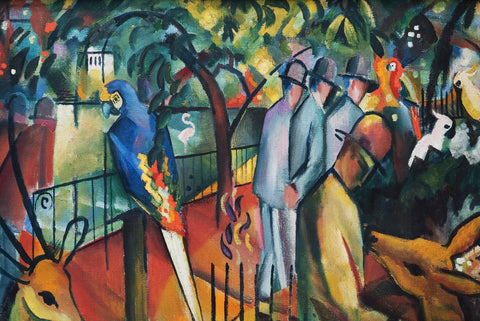 Zoological Garden by August Macke - Wooden Jigsaw Puzzles for Adults