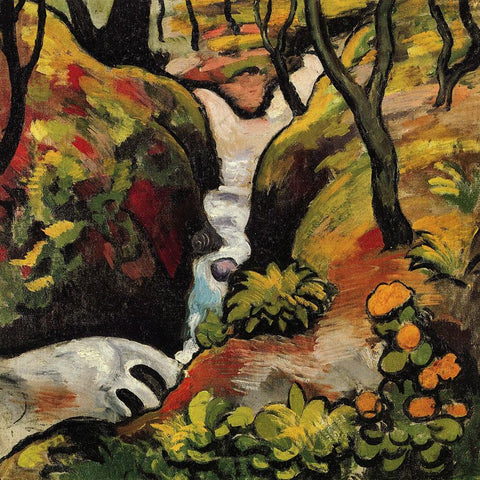 Forest Brook by August Macke - Wooden Jigsaw Puzzles for Adults