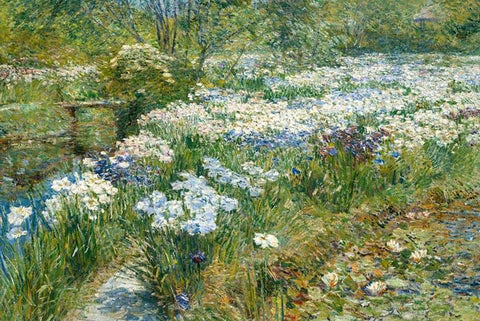The Water Garden by Childe Hassam - Wooden Jigsaw Puzzles for Adults