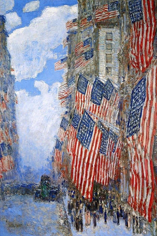 The Fourth of July by Childe Hassam - Wooden Jigsaw Puzzles for Adults