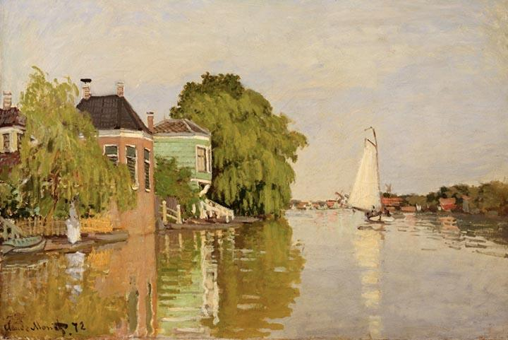 Houses on the Achterzaan by Monet - Peaceful Wooden Puzzles