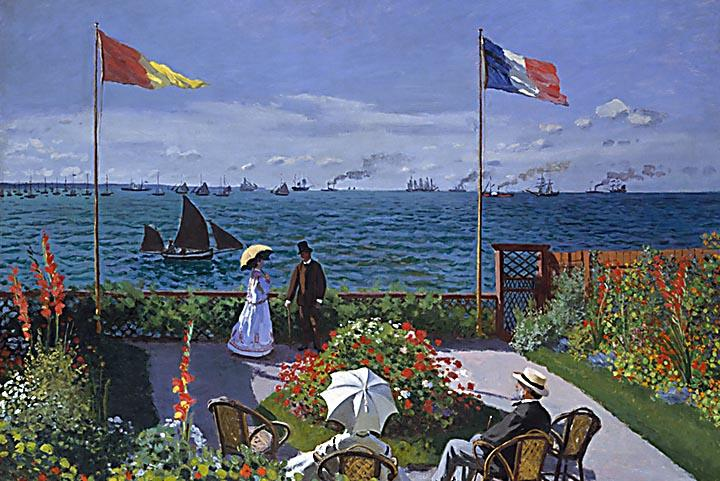 Garden at Sainte-Adresse by Monet - Peaceful Wooden Puzzles
