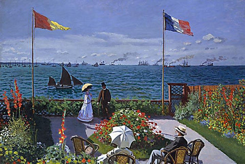 Garden at Sainte-Adresse by Monet - Wooden Jigsaw Puzzles for Adults