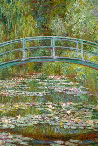 Bridge over a Pond of Waterlilies by Monet - Peaceful Wooden Jigsaw Puzzles
