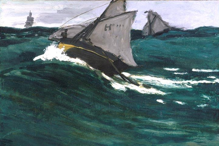 The Green Wave by Monet
