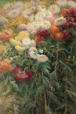 Chrysanthemums in the Garden by Monet - Peaceful Wooden Jigsaw Puzzles
