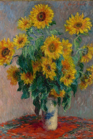 Bouquet of Sunflowers by Monet - Peaceful Wooden Puzzles