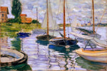 Sailboats on the Seine at Petit - Gennevilliers by Monet - Peaceful Wooden Jigsaw Puzzles
