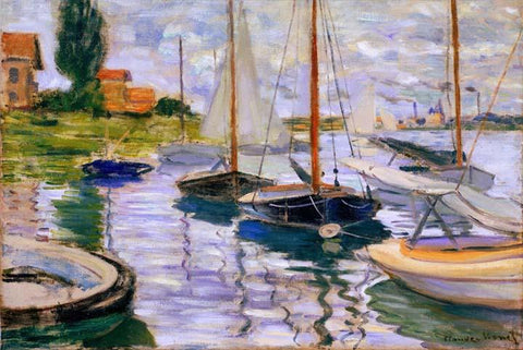 Sailboats on the Seine at Petit - Gennevilliers by Monet - Wooden Jigsaw Puzzles for Adults