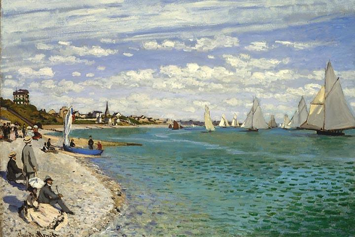 Regatta at Sainte-Adresse by Monet - Peaceful Wooden Puzzles