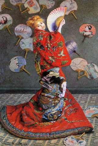 Camille Monet in Japanese Costume by Monet - Peaceful Wooden Puzzles