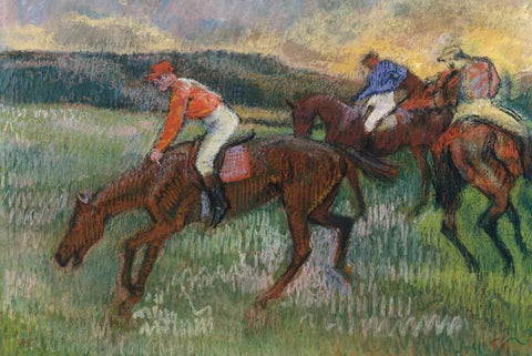 Three Horse Jockeys by Degas - Wooden Jigsaw Puzzles for Adults