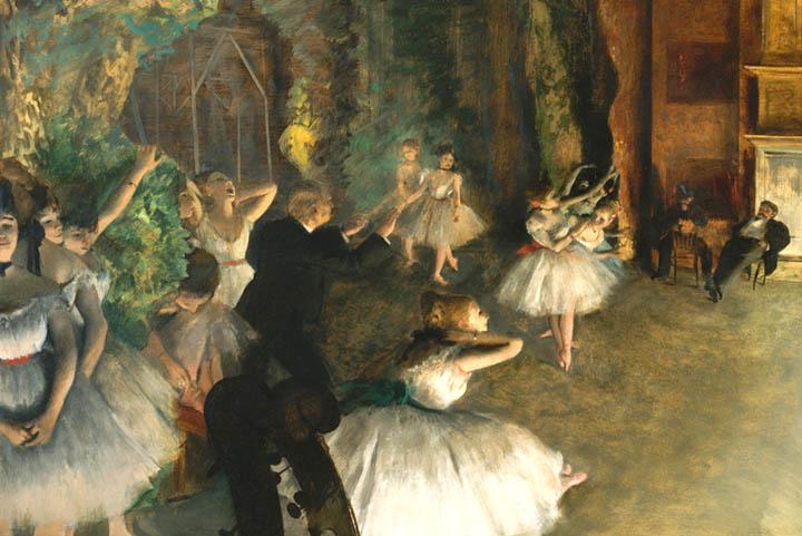Rehersel on the ballet Stage by Degas