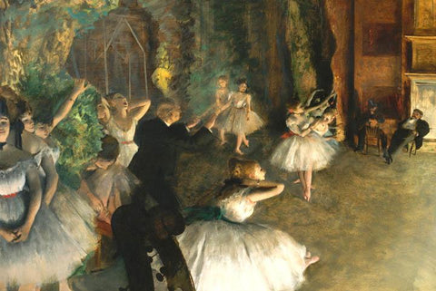 Rehersel on the ballet Stage by Degas - Wooden Jigsaw Puzzles for Adults