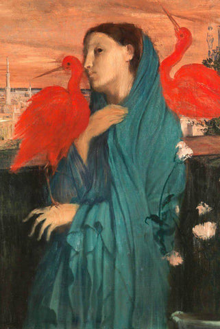Young Woman with Ibis by Degas Wooden Jigsaw Puzzle