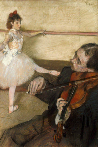 The Dance Lesson by Degas