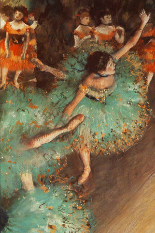 Green Dancer by Degas - Peaceful Wooden Jigsaw Puzzles