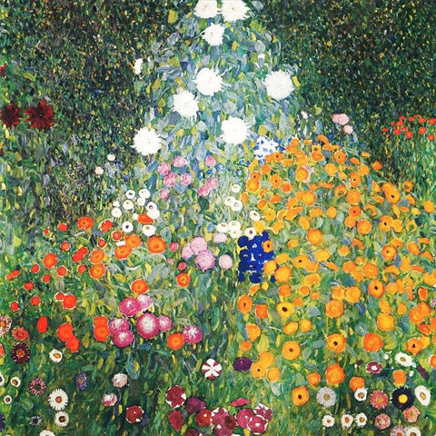 Farm Garden with Sunflowers by Gustav Klimt - Peaceful Wooden Puzzles