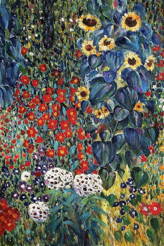 Farm Garden by Gustav Klimt Peaceful Wooden Puzzles
