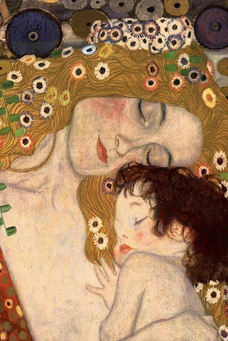 Mother and Child by Gustav Klimt Peaceful Wooden Puzzles