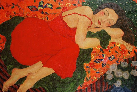 The Dream by Gustav Klimt - Peaceful Wooden Puzzles