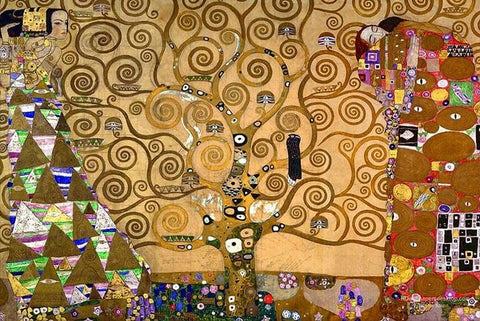 Tree of Life by Gustav Klimt - Peaceful Wooden Puzzles