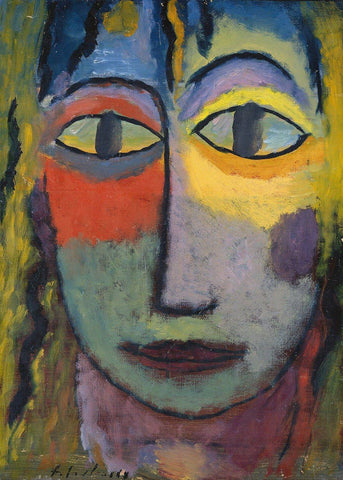 Head of a Woman Alexei von Jawlensky - Wooden Jigsaw Puzzles for Adults