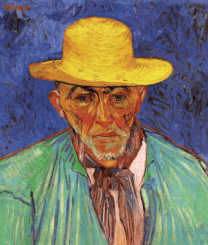 Portrait of Patience Escalier, Shepherd in Provence Van Gogh - Wooden Jigsaw Puzzles for Adults