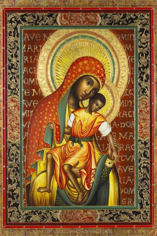 Black Madonna by Paul Heussenstamm - Peaceful Wooden Jigsaw Puzzles