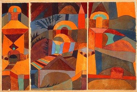 Temple Gardens by Paul Klee - Wooden Jigsaw Puzzles for Adults