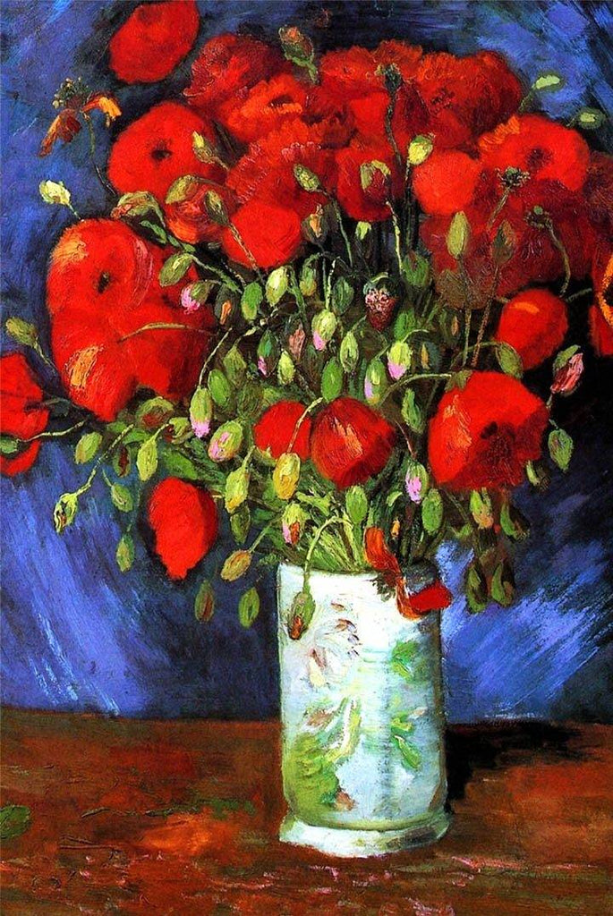 Vase with Red Poppies by Van Gogh - Peaceful Wooden Puzzles