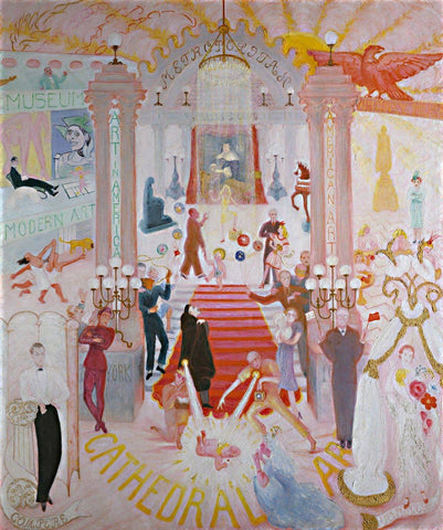 The Cathedrals of Art by Florine Stettheimer - Wooden Jigsaw Puzzles for Adults