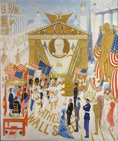 The Cathedrals of Wall Street by Florine Stettheimer - Wooden Jigsaw Puzzles for Adults