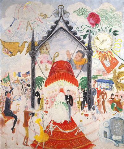 The Cathedrals of 5th Avenue by Florine Stettheimer - Wooden Jigsaw Puzzles for Adults