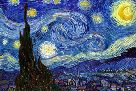 Starry Night by Van Gogh - Peaceful Wooden Jigsaw Puzzles