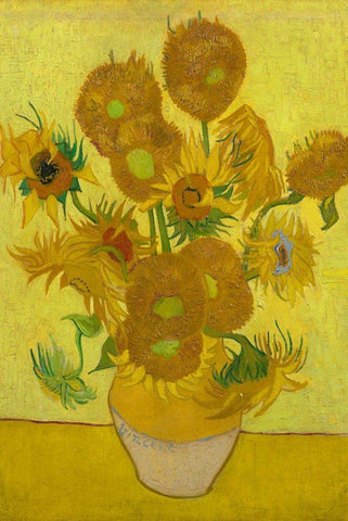 Sunflowers by Van Gogh - Peaceful Wooden Jigsaw Puzzles
