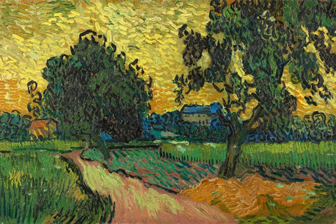 Landscape at Twighlight by Van Gogh - Peaceful Wooden Puzzles