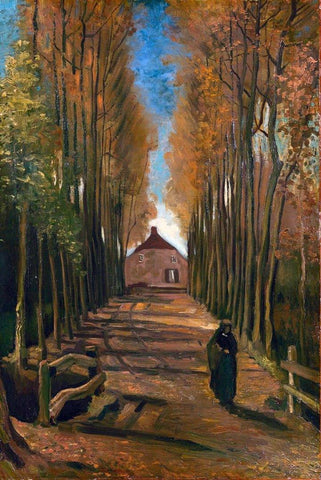 Avenue of Poplars in Autumn by Van Gogh - Peaceful Wooden Puzzles