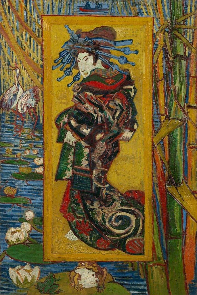 Courtesan (after Eisen) by Van Gogh - Peaceful Wooden Puzzles