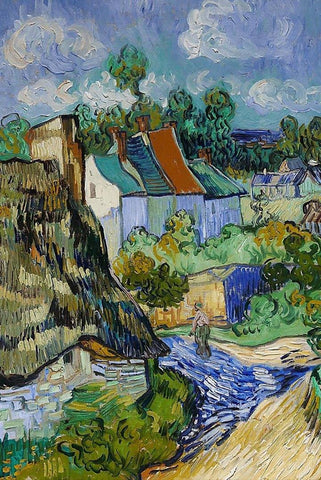 Houses in Auvers by Van Gogh - Peaceful Wooden Jigsaw Puzzles