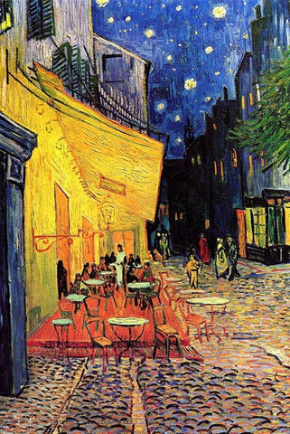 Café Terrace at Night by Van Gogh - Peaceful Wooden Puzzles