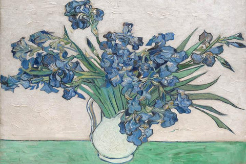 Irises in Vase by Van Gogh - Peaceful Wooden Jigsaw Puzzles